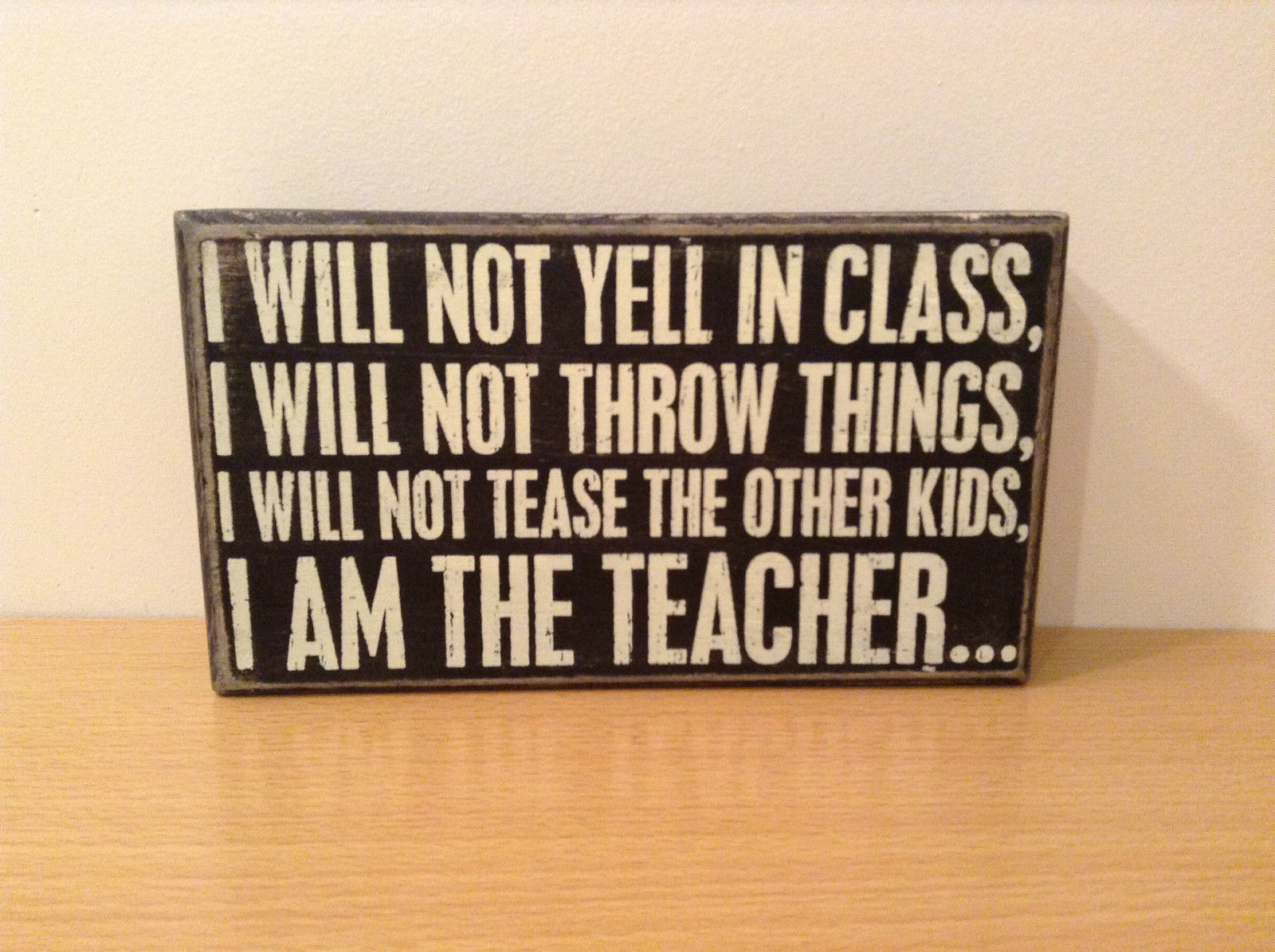 I Will Not Yell In Class I will not throw things I will not tease I am  teacher