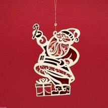Laser Wood Ornament Flourish Santa Claus image 2