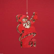 Laser Wood Ornament Flourish Santa Claus image 3