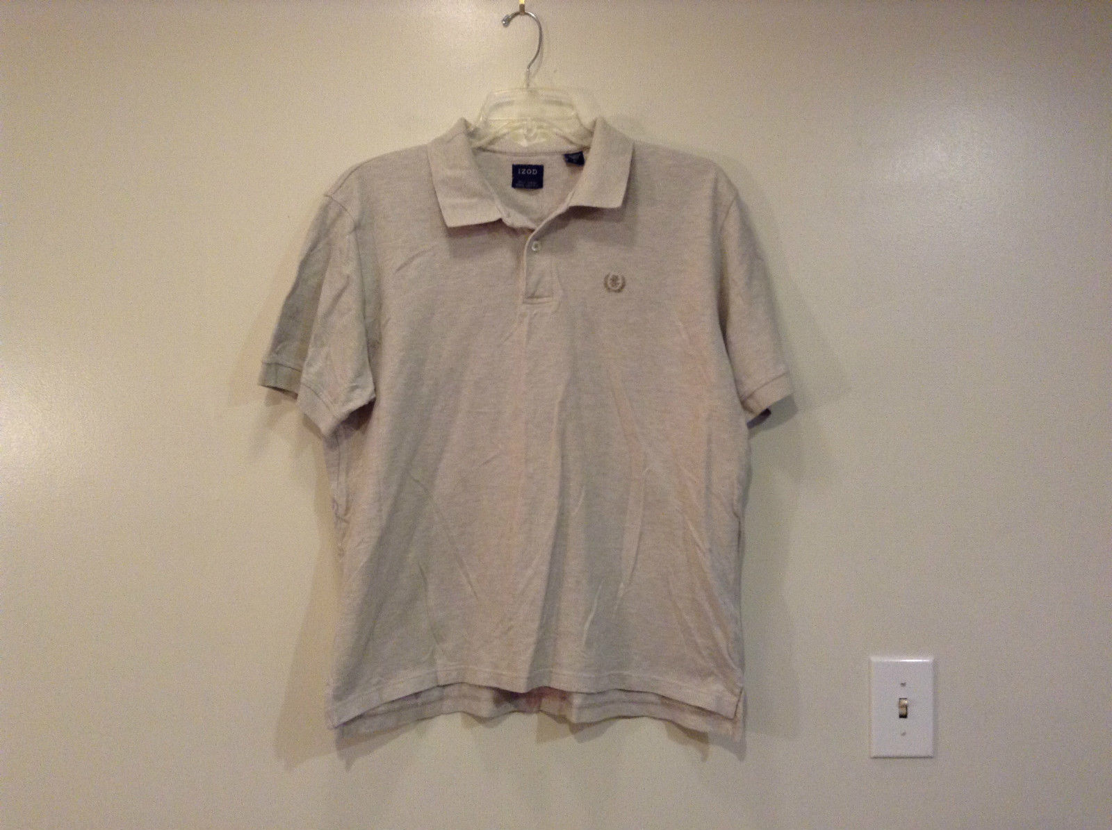 IZOD Casual Gray 100 Percent Cotton Short Sleeve Polo Shirt Size XL