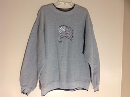 M & C Sport Gray Sweatshirt with Dark Blue Trim on Neck  Cuffs and Waist Size XL