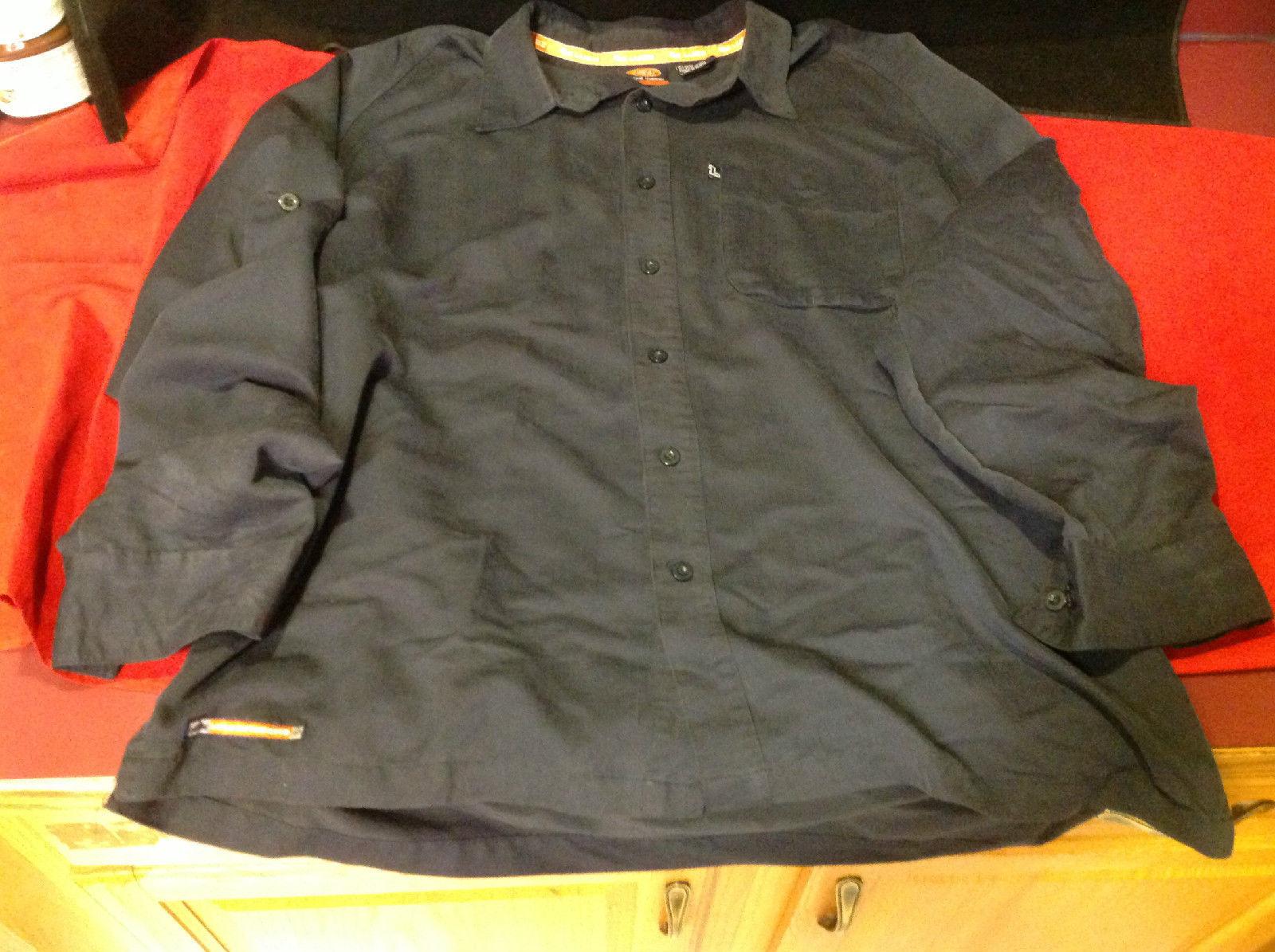 Lugz Black Colored Mens Button Front Shirt Size XL