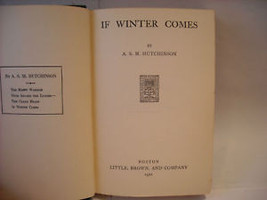 If Winter Comes 1921 Hutchinson Little Brown