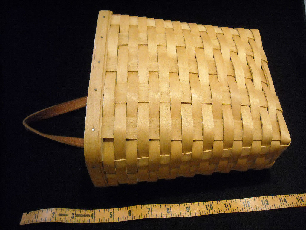 Handmade Baskets From Ohio : Handmade longaberger basket dresden ohio woven wood other