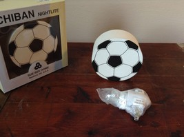Ichiban Night Light Black and White Soccer Ball Original Box US Outlet