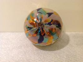 Handmade Recycled Glass Chirstmas Ball Ornament Very Beautiful image 4