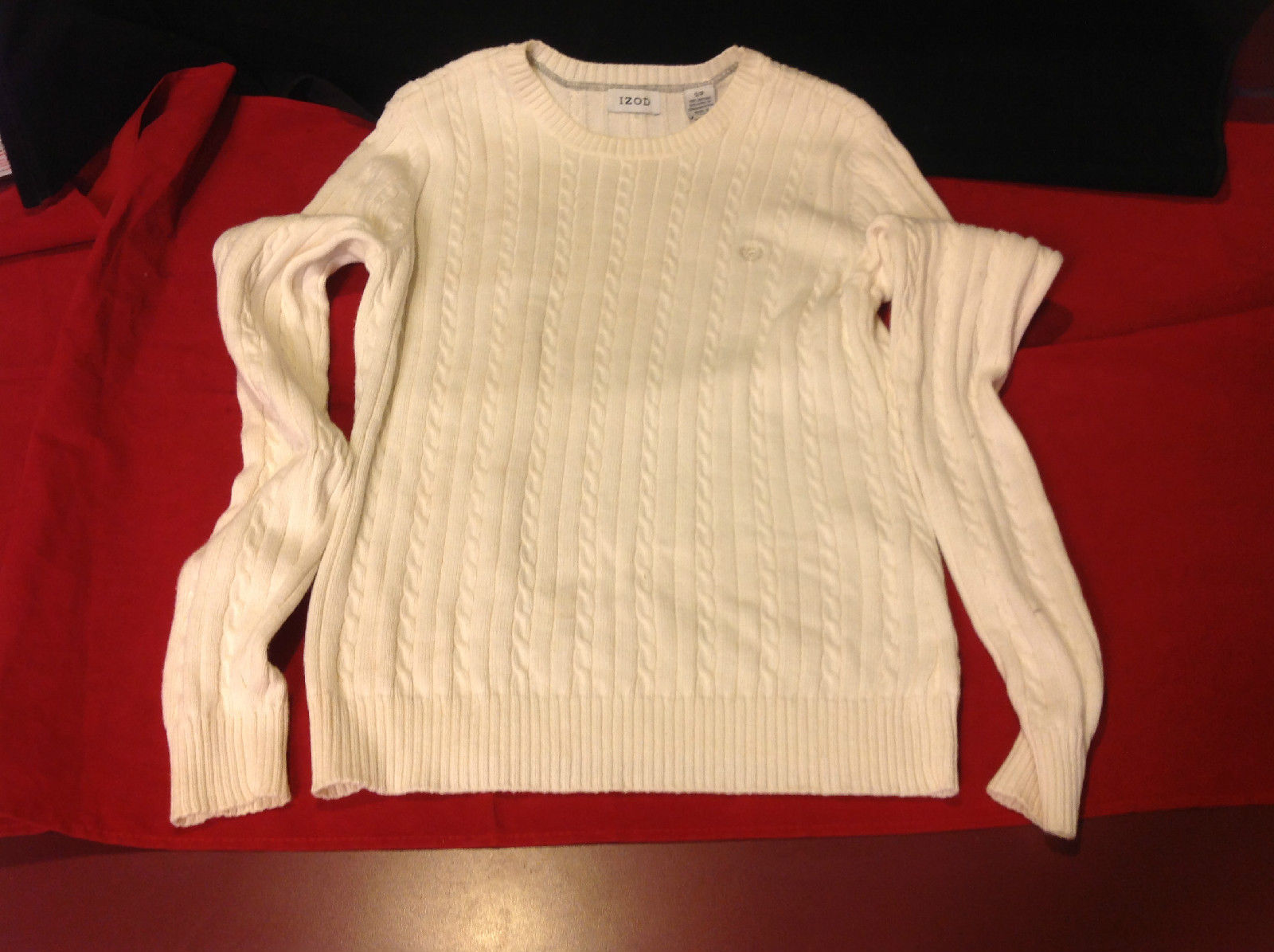 IZOD Cream Color Ladies Sweater Size SP small petite