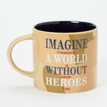 Imagine a World without Heroes Free Freedom isn't Free  gift mug