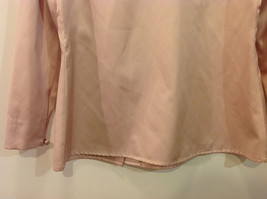 Handmade Pastel Cream Blouse Asymmetrical Button Closure and Tie, NO Size tag image 8