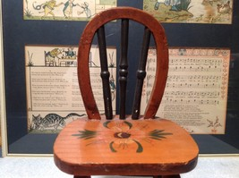 Handmade Small Decorative Wooden Chair Flower on Seat image 3