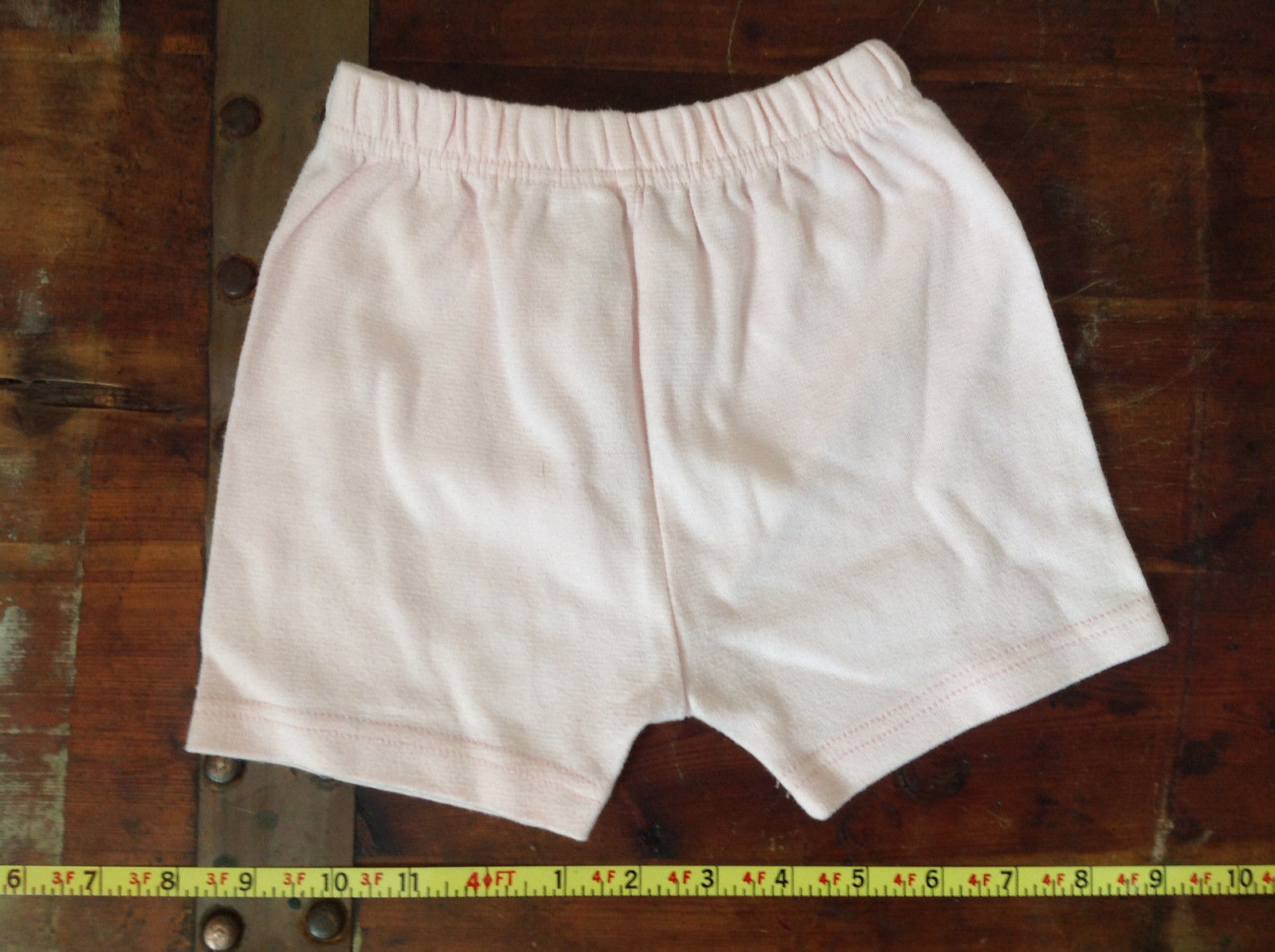 Infant Pale Pink Elastic Waist Shorts from Basic Editions Size 24 Months
