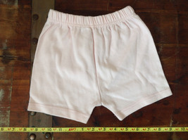 Infant Pale Pink Elastic Waist Shorts from Basic Editions Size 24 Months image 1