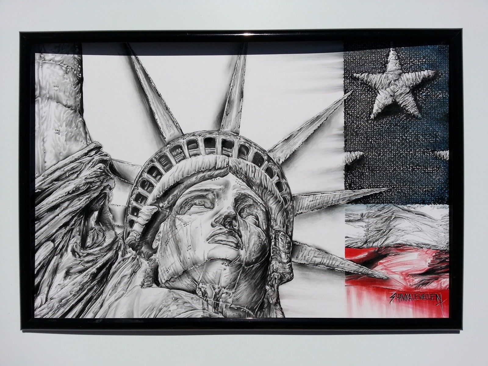 In God We Trust Fine Art Poster featuring Statue of Liberty