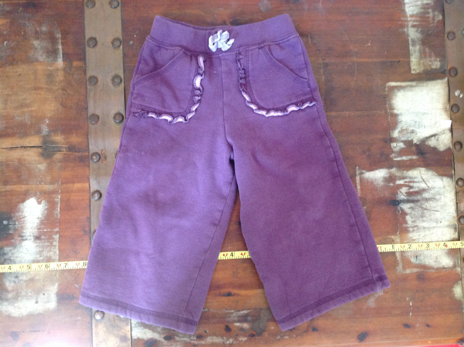 Infant Purple Frilly Tie Waist Pants by Carter Size 18 Months