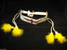 Indigenous People's Beaded and Feathered Costume Head Piece image 1