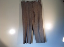 Incotex Light Brown Dress Pants Zipper Button Front Closure Size 50 Wool Blend