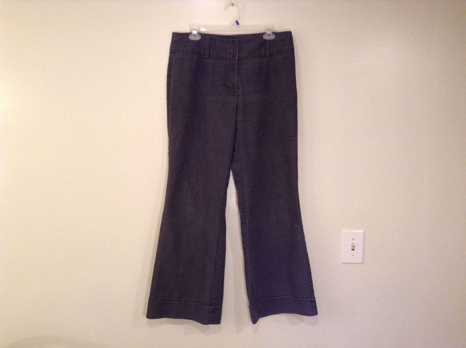 Ingredients Size 12 Gray Casual Pants Cuffed Pant Legs 3 Buttons Zipper Closure