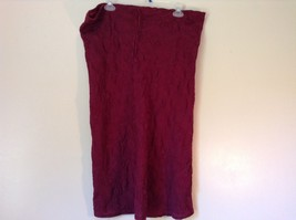 Maroon Floral Skirt Size Medium with Adjustable Waist