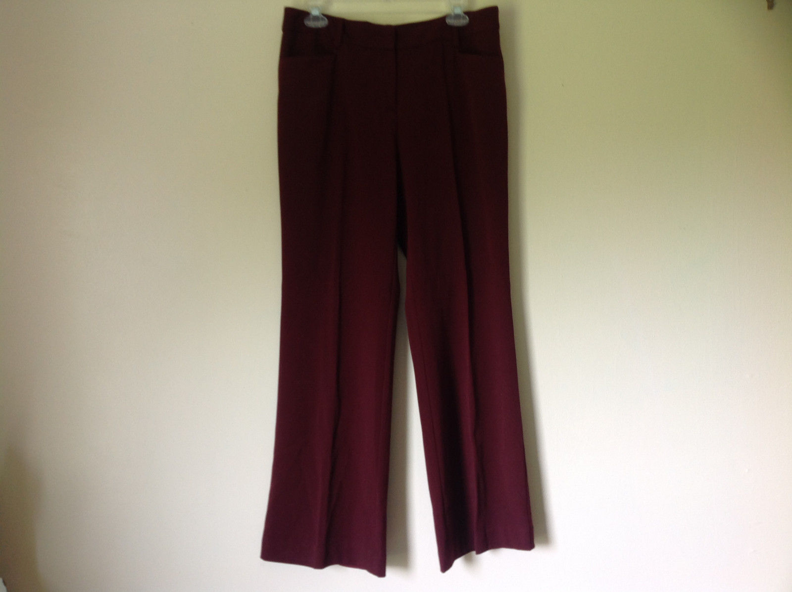 Maroon Dress Pants by Apt 9 Four Pockets Two in Back are for Show Size 10