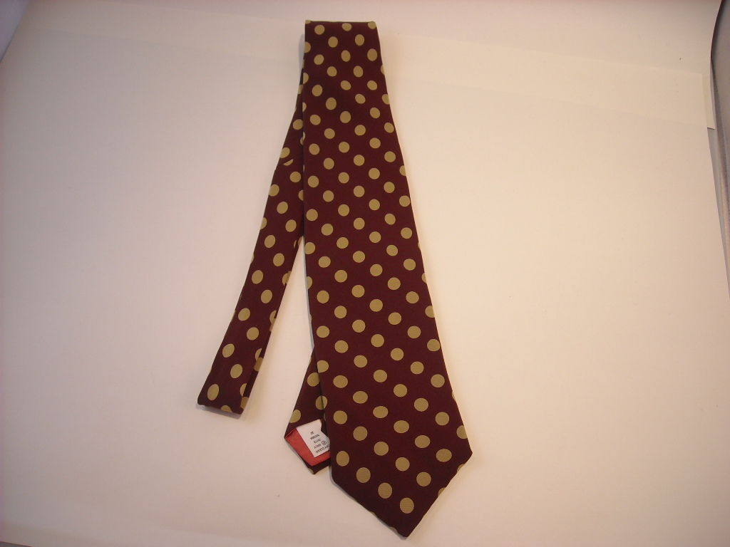 Maroon and Tan Polka Dot Neck Tie by Next