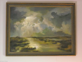 Marsh Landscape Oil Painting by Waltch