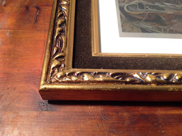 Harbor Shelter Print Painting Wall Decoration Gold Tone Frame Relief image 3