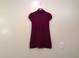 Maroon Planet Gold Short Sleeve Turtleneck Sweater Top Pretty Sleeves Size Large image 1
