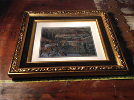 Harbor Shelter Print Painting Wall Decoration Gold Tone Frame Relief image 6