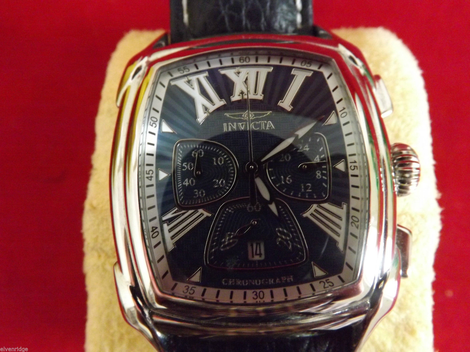 Invicta 2721 Men's Watch Genuine Leather Band