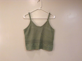 Its Our Time Grayish Green Knitted Tank Top 100 Percent Acrylic Size Large