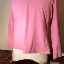 Light Dusty Pink Plain Long Sleeve Top Stretchy Mercer and Madison Size XL image 3