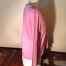 Light Dusty Pink Plain Long Sleeve Top Stretchy Mercer and Madison Size XL image 4