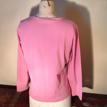 Light Dusty Pink Plain Long Sleeve Top Stretchy Mercer and Madison Size XL image 5