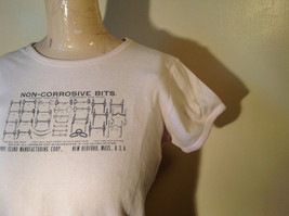 Light Pink T Shirt Non Corrosive Bits on Front in Green O'Halloran Co Size Large image 4