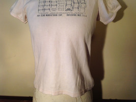 Light Pink T Shirt Non Corrosive Bits on Front in Green O'Halloran Co Size Large image 3