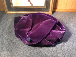 Lightly Worn French Style Dark Purple Hat Most Likely Handmade image 5