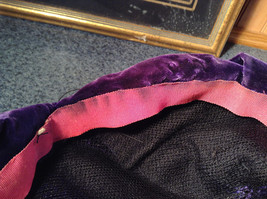 Lightly Worn French Style Dark Purple Hat Most Likely Handmade image 7
