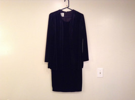JBS Size 10 Black Velvet Dress and Attached Jacket Back Zipper Closure Very Nice
