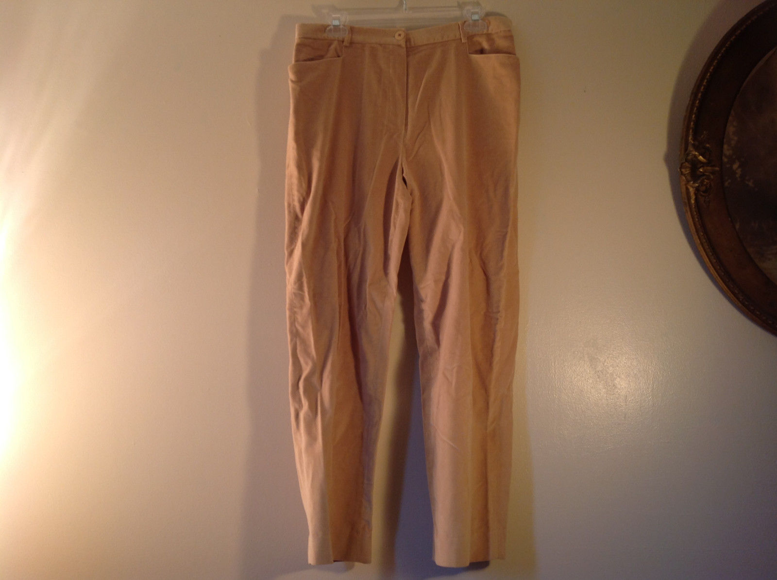 J McLaughlin Size 12 Light Brown Corduroy Pants Made in USA Good Condition