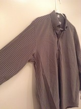 Haupt Evolution Blue Tan Checkered Button Up Shirt Long Sleeves Size Large image 4
