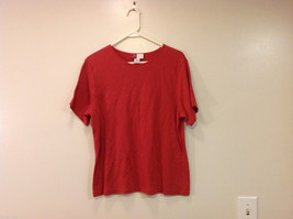 JM Woman Collection Stretch Calm Red Scoop Neck Classic T-shirt, Size 1X
