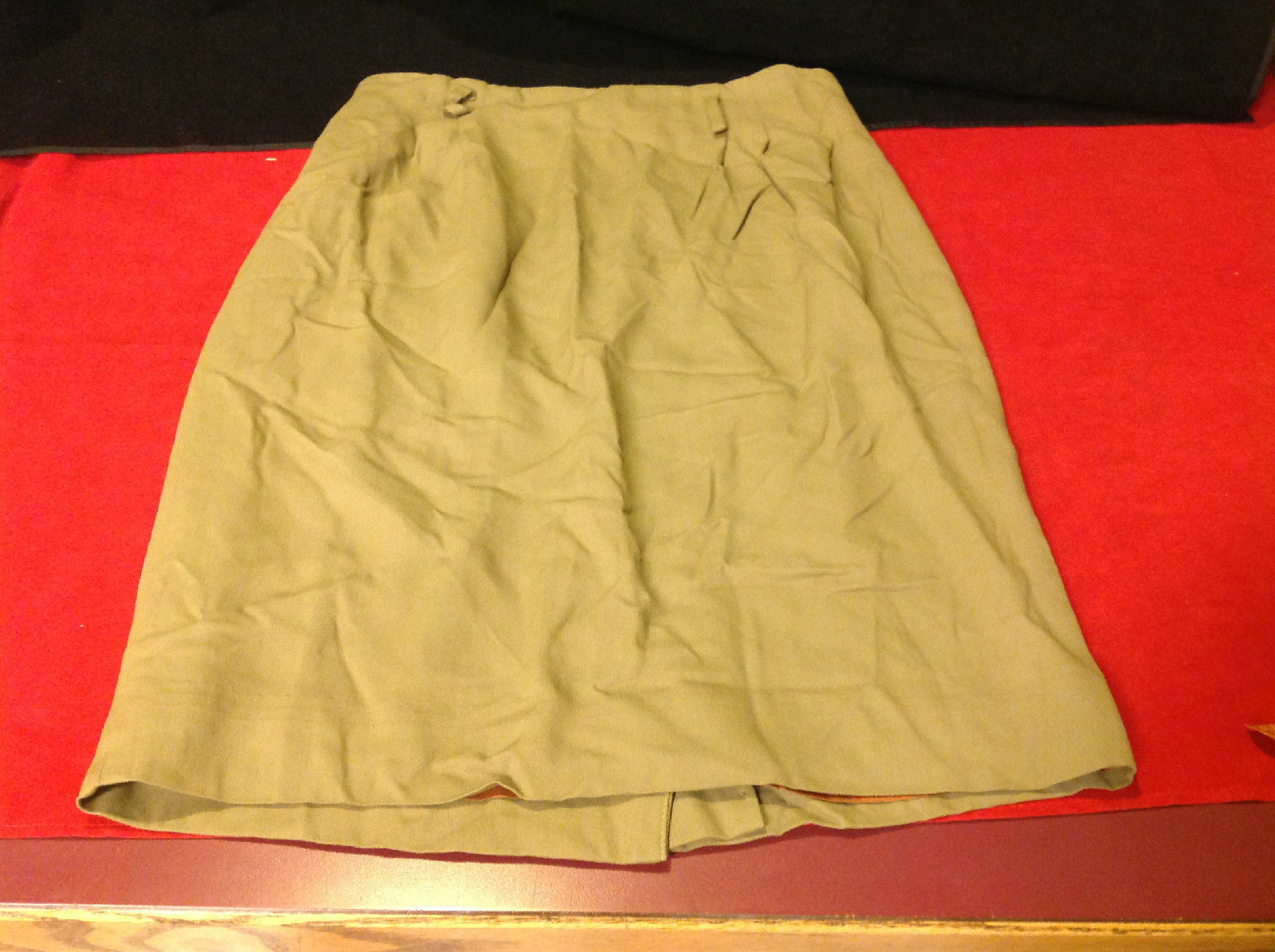 JH Collectibles Olive Colored Petite Skirt Size 8P
