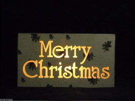 Merry Christmas Lit Box Sign