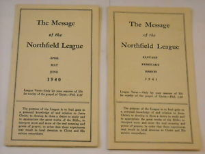 Message of the Northfield League 1940 1941 Newsletter