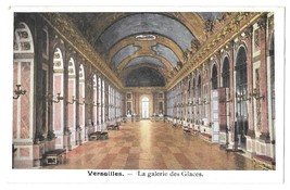 Versailles Palace France Hall of Mirrors Galerie des Glaces Vintage Post... - $4.99