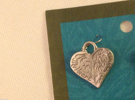 Heart earrings pewter with sterling silver ear wires Cynthia Webb image 4