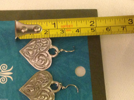Heart earrings pewter with sterling silver ear wires Cynthia Webb image 2