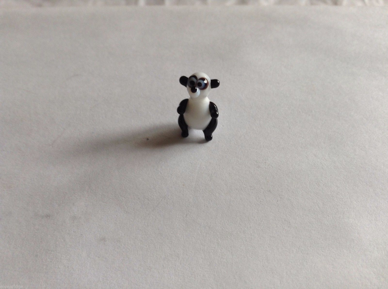 Micro Miniature hand blown glass made USA NIB Panda Bear standing up