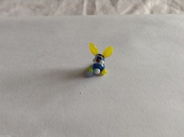 Micro Miniature hand blown glass made USA NIB blue and yellow bunny