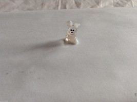 Micro Miniature hand blown glass made USA NIB white and clear bunny image 1